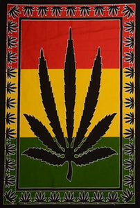 Tapestries Weed Rasta Leaf - Tapestry 009659