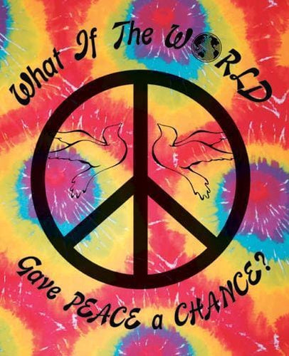 Tapestries What if the World Gave Peace a Chance - Tie-Dye - Small Tapestry 001156