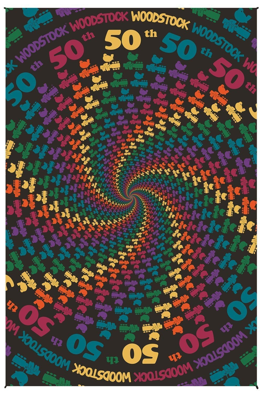 Tapestries Woodstock 50th Anniversary Spiral - Tapestry 100026