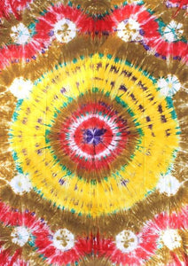 Tapestries Yellow Circle Tie-Dye Tapestry ta-77