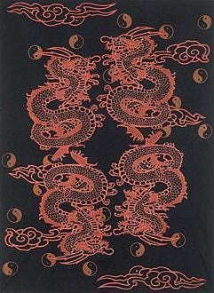 Tapestries Yin-Yang Dragon - Tapestry ta-87