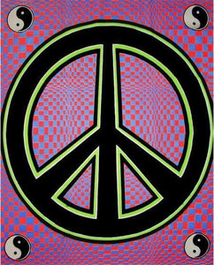 Tapestries Yin-Yang Peace - Black Light Tapestry 000793