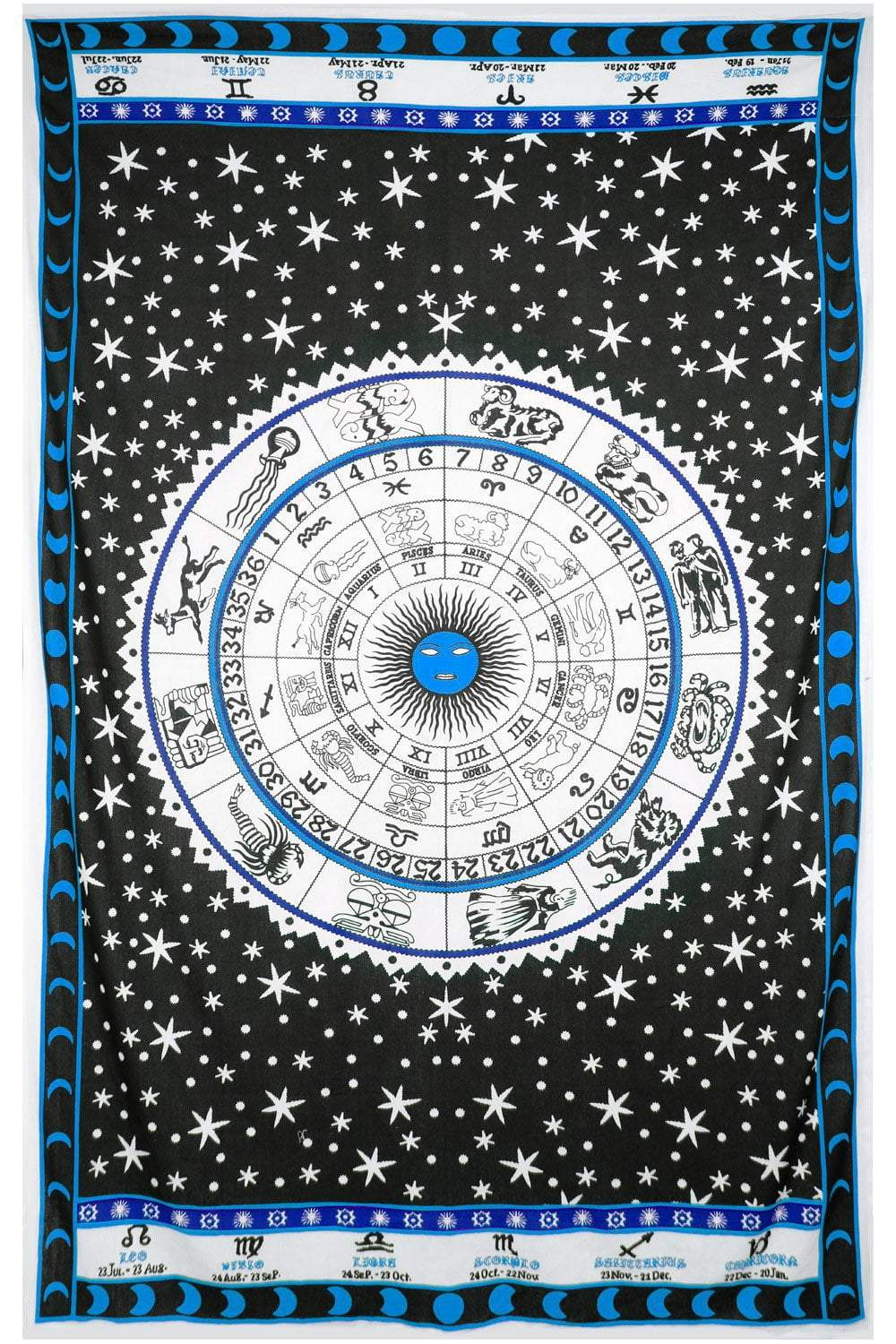 Tapestries Zodiac Astrology - Blue - Tapestry 100016