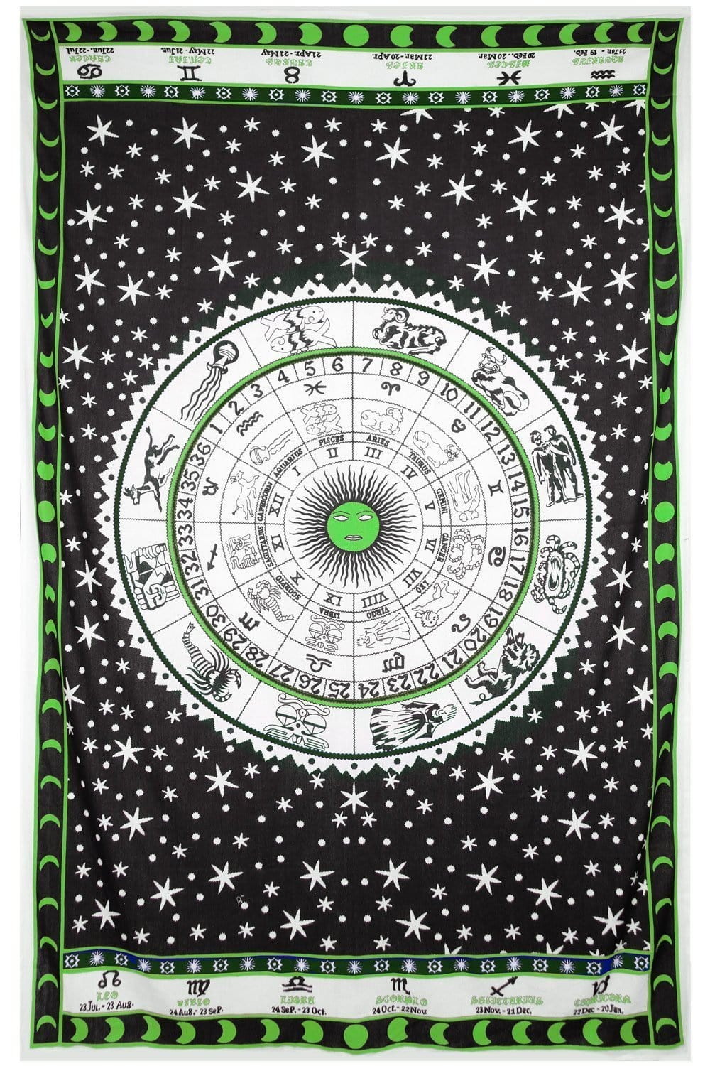 Tapestries Zodiac Astrology - Green - Tapestry 100022