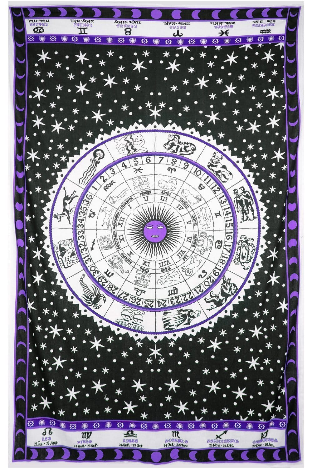 Tapestries Zodiac Astrology - Purple - Tapestry 100023