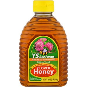 Y.S. Eco Bee Farms, Pure Premium Clover Honey, 16 oz (454 g) | Y.S. Eco Bee Farms | The Vedic Store