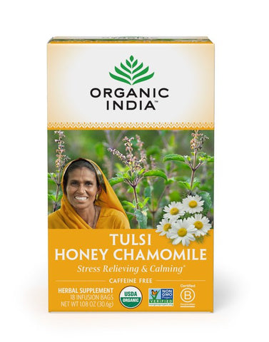 Tulsi Infusion Honey Chamomile (18 count) - Organic India