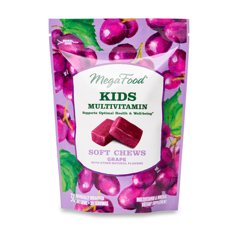 Kids Multivitamin Soft Chews - Grape - TheVedicStore.com
