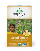 Tulsi Lemon Ginger Tea (18 count) - Organic India
