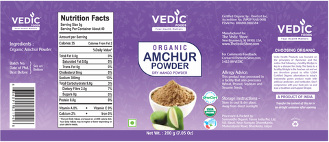 Vedic Organic Amchur Powder (200gm)
