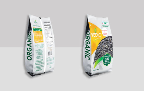Organic Black Gram Whole (Urad Whole) (908gm) | Vedic | The Vedic Store