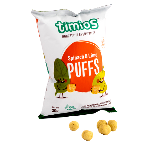 Spinach & Lime Puffs (4-Pack/20-Pack) - TheVedicStore.com