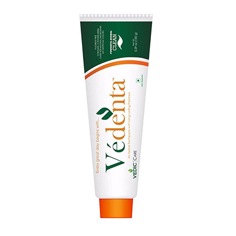 Vedenta Toothpaste with Tongue Cleaner - TheVedicStore.com