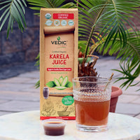 Vedic Organic Karela Juice - Supports Healthy Blood Sugar Level (Bitter Melon/Bitter Gourd)