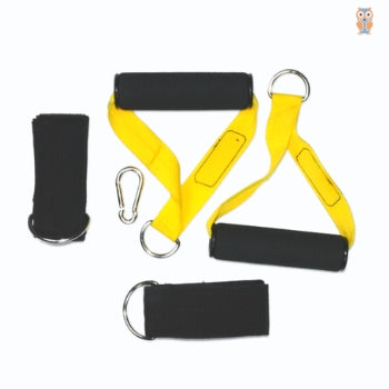 Accessories for attaching handles to the power loop resistance bands