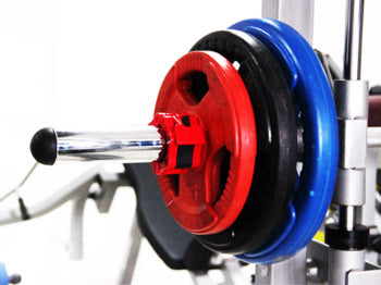 Barbell Spin-Lock installed over barbell rod