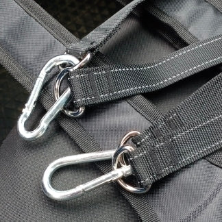Carabiners abs sling straps for pull-up bars