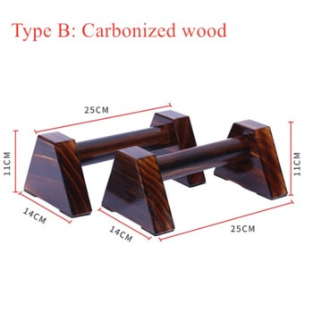Carbonized wood push-up stand