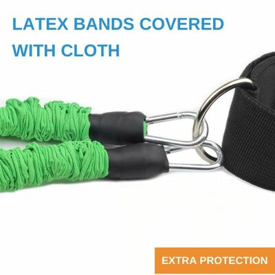 Cloth covered ankle resistance bands for added protection