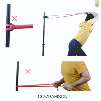 Comaprison of different methods of tying resistance bands around the pole