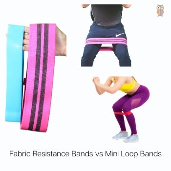 Comparison between the fabric resistance bands and booty bands