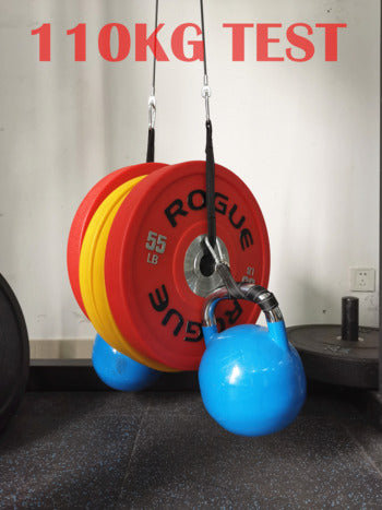 DIY home cable pulley workout system