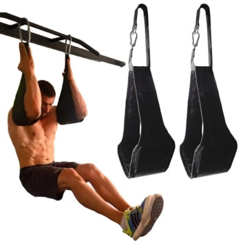Exercises with  abs sling straps for pull-up bars