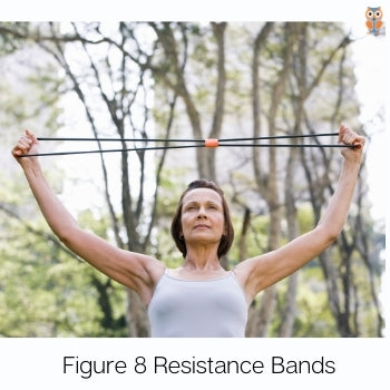 Figure eight resistance bands