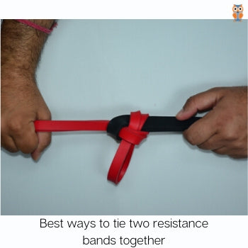 How to tie two resistance bands together