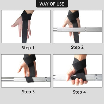 Instructions for using Weight lifting straps