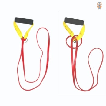 Power Loop Resistance band connected with foam handles