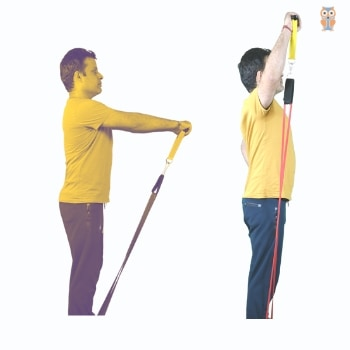 Resistance Band Exercises with power loop band having handle