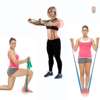 Resistance band exercises where bands directly touches skin