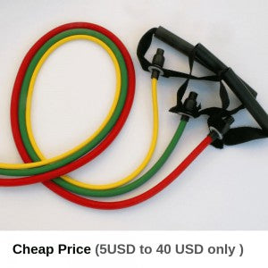 Resistance bands shown as cheap alternative to free weights