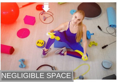 Resistance band kept inside the room in negligible space as compared to other gym equipment