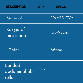 Specifications of banded abdominal abs roller