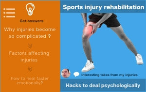 Sports Injury Rehabilitation - Psychological hacks to recover emotionally