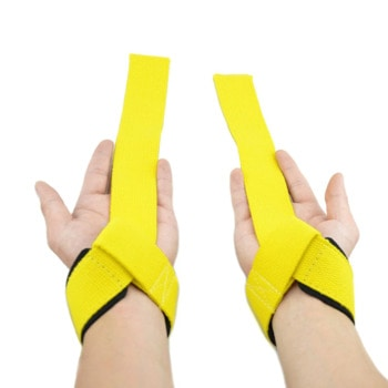 Weight lifting straps yellow color