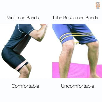 Tube resistance bands are not comfortable for squat walks