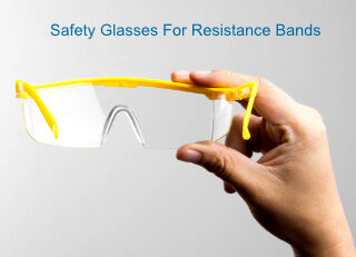 eye protection glasses for resistance bands