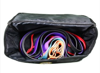 large rectangular bag used for storing resistance bands