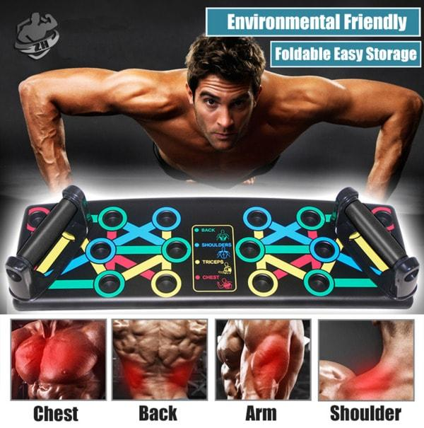 Multipurpose Push-Up Board - For Chest, Back, Shoulder, Triceps - Unique Addict
