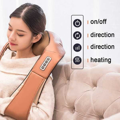 Neck Shoulder And Back Massager - Leather | All Season - Unique Addict