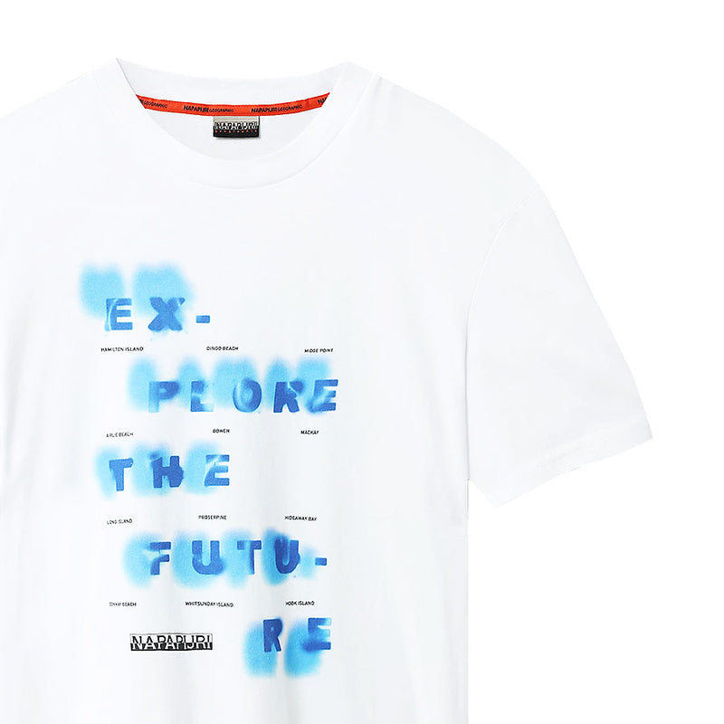 Napapijri - Sobar Explore The Future T-Shirt in White - Nigel Clare