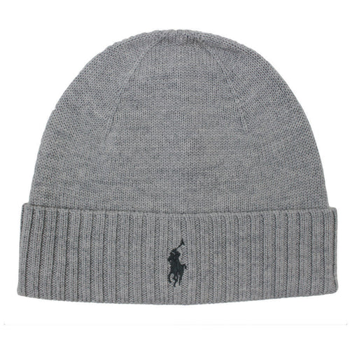 Polo Ralph Lauren - Merino Wool Beanie Hat in Grey - Nigel Clare