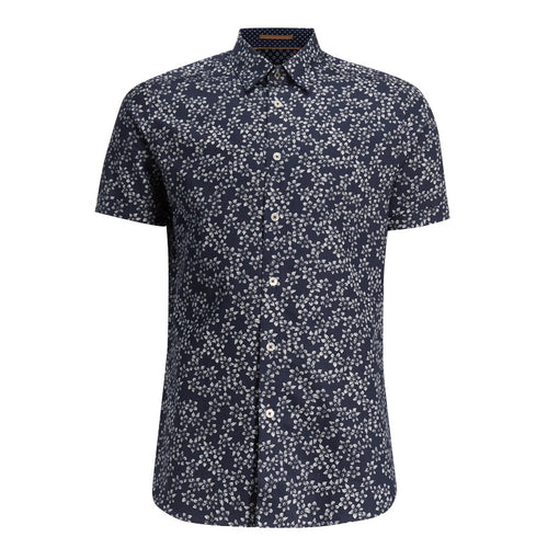 Ted Baker - YEPYEP Floral Shirt in Navy - Nigel Clare