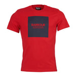 Barbour International - Block T-Shirt in Vibrant Red - Nigel Clare