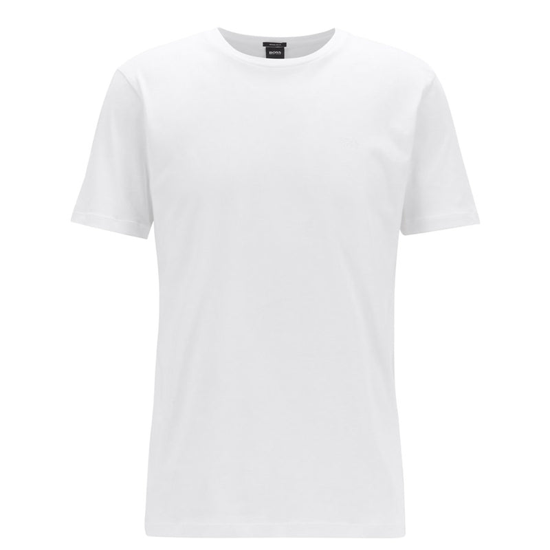 Hugo Boss - Lecco 80 Crew Neck T-Shirt in White - Nigel Clare