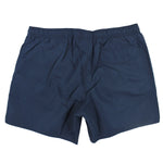 Emporio Armani - Orange Logo Strip Swim Shorts in Navy - Nigel Clare
