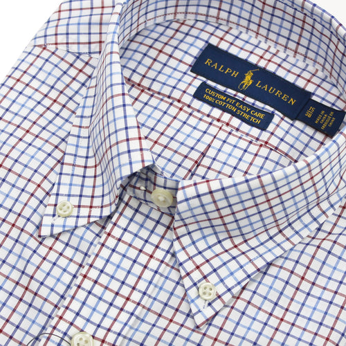 Polo Ralph Lauren - Custom Fit Check Shirt in White/Blue/Red - Nigel Clare